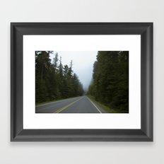 Misty Mountain Road Framed Art Print