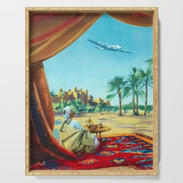 North Africa - 1950s Vintage Air France Travel Poster Serving Tray