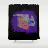 mass effect Shower Curtains featuring Garrus Vakarian (Mass Effect) by MajesticSeahawk Designs