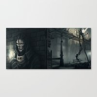dishonored Canvas Prints featuring Dishonored by trixdraws