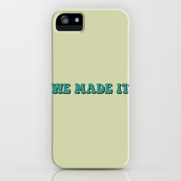 Louis Tomlinson - We Made It iPhone Case