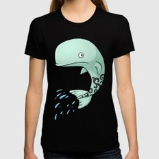 Whale Black SMALL Womens Fitted Tee