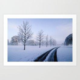 Snow snow snow. Art Print