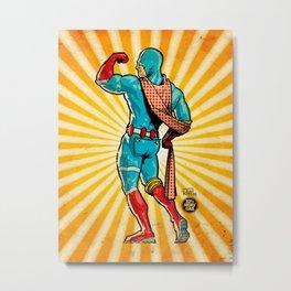 Captain RibMan Metal Print