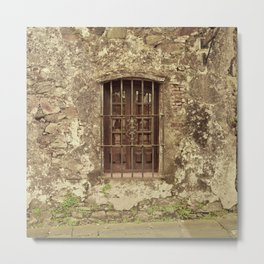 Old facade - Set 4 Metal Print