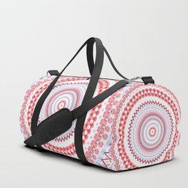Soft Coral Blue Mandala Design Duffle Bag