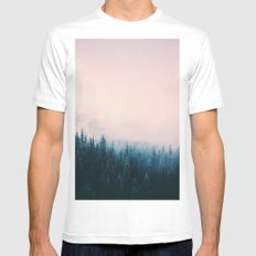 Pastel Forest Mens Fitted Tee MEDIUM White