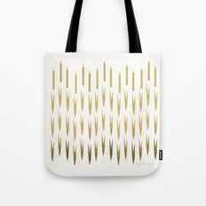 Gold Cattails Tote Bag