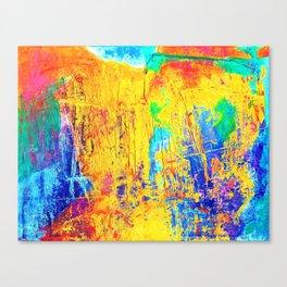 Imaginäre Landschaft - Ölgemälde auf Leinwand Canvas Print
