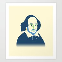 shakespeare Art Prints featuring Shakespeare by thatonedude