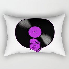 Afrovinyl (Purple) Rectangular Pillow