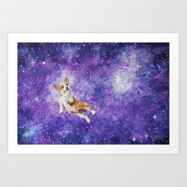 Space Corgi Art Print