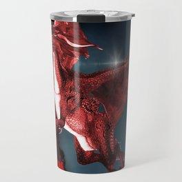 Cute Dragon in red Travel Mug