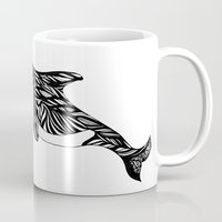 orca Mugs featuring Orca by Kate Shea