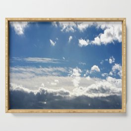 Windy Day Sky Serving Tray