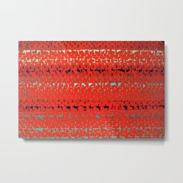 African American Masterpiece Alma Thomas, Red Sunset, Old Pond Concerto Metal Print