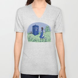 Adventure in the Great Wide Somewhere Unisex V-Neck
