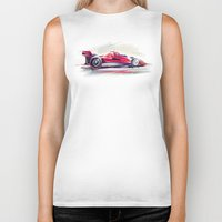 racing Biker Tanks featuring racing car2 by tatiana-teni