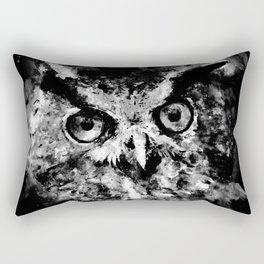 owl perfect black white Rectangular Pillow