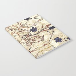 Vintage floral collage on paper Notebook
