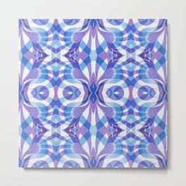 Floral Geometric Abstract G288 Metal Print