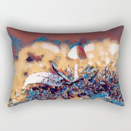 Lonely Mushroom Rectangular Pillow