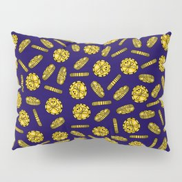 Golden Pirate Doubloon Pattern Pillow Sham