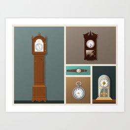 A Series of Vintage Clocks (Part one) Art Print