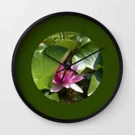 pink water lily XI Wall Clock