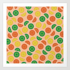 Fruity Slices Art Print