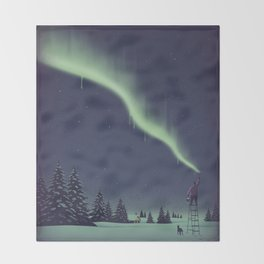Winter Painting Throw Blanket