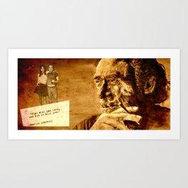 Charles Bukowski - love version Art Print