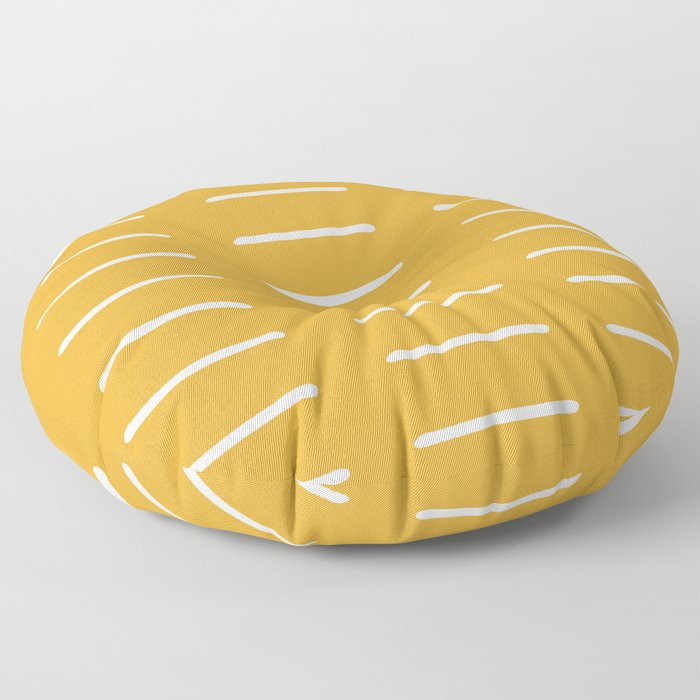 organic / yellow Floor Pillow