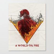 A World on Fire Canvas Print