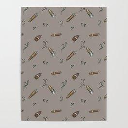 Smoky cigar pattern Poster