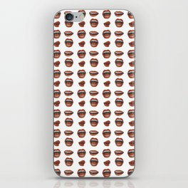 Loose Lips (on Graphic White Background) iPhone Skin
