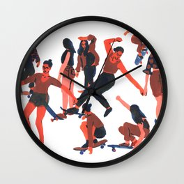 Skaters Wall Clock