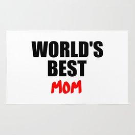worlds best mom gift Rug