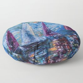 Sails To-Night Floor Pillow