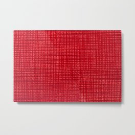 Red fibrous cloth texture abstract Metal Print