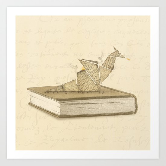 Origami Dragon Art Print