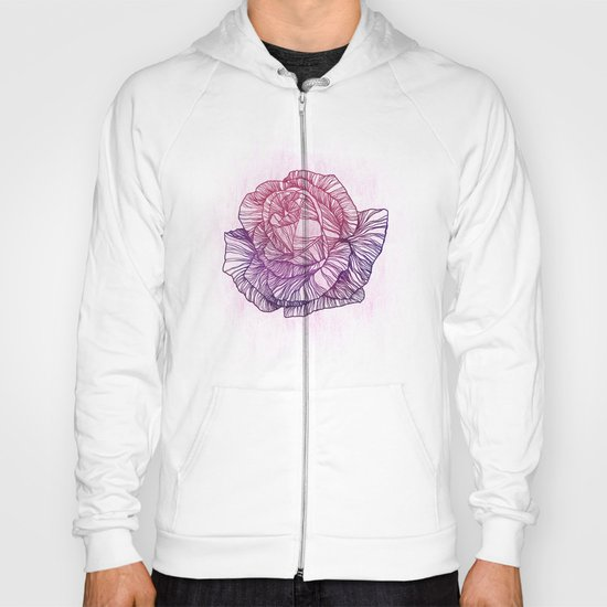 Purple rose Hoody