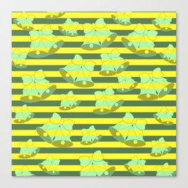 Christmas bells and stripes Canvas Print
