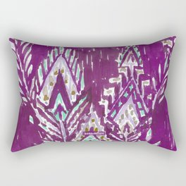 BRAVE FEATHER TRIBAL - PLUM Rectangular Pillow
