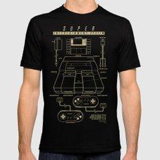 Super Entertainment System (dark) Black MEDIUM Mens Fitted Tee