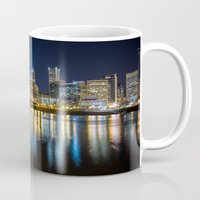 portlandia Mugs featuring Portland Nocturnal by raise the stakes!