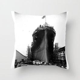 USS Arizona, Navy Yard, New York Throw Pillow