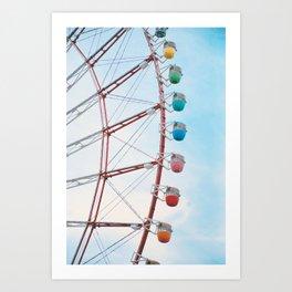 Ferris Wheel Odaiba Art Print