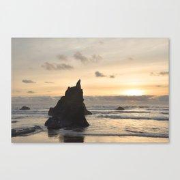 Arcadia Beach Sunset Lion Rock Oregon Coast Pacific Ocean Canvas Print