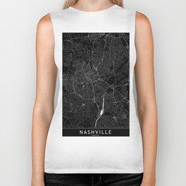 Nashville Black Map Biker Tank